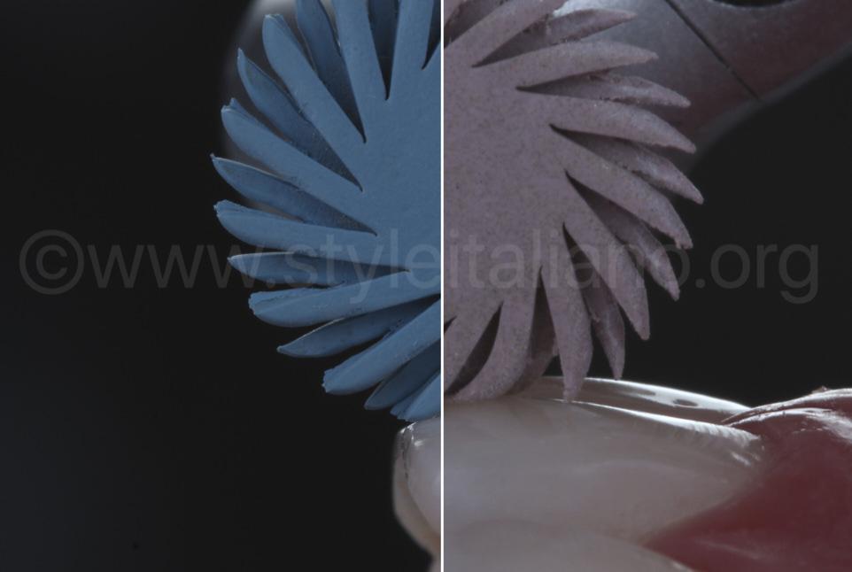 spiral wheels for composite polishing