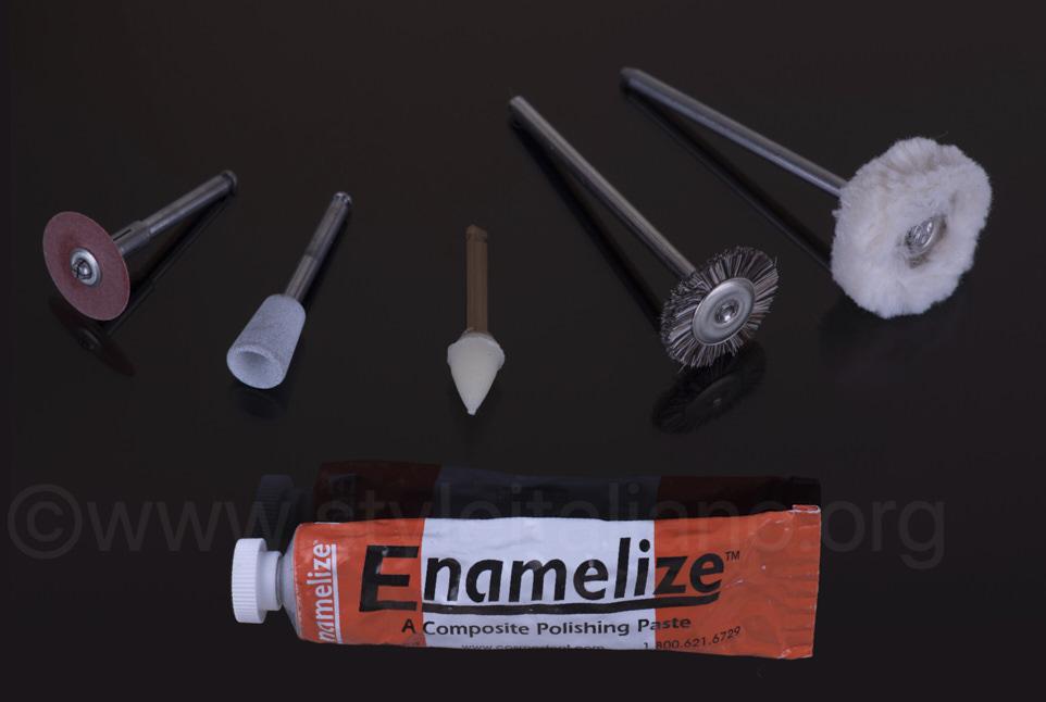 tools for finishing and polishing of overlays