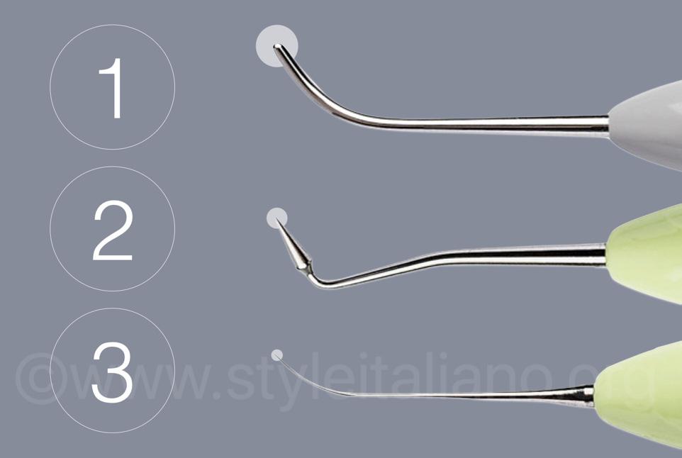 different diameters of styleitaliano composite spatulas